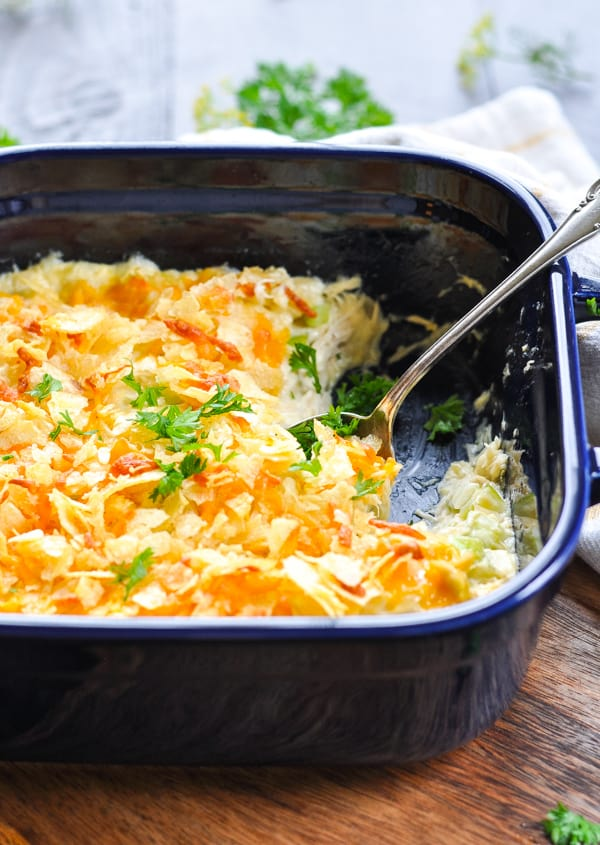 Dump-and-Bake Southern Chicken Salad Casserole