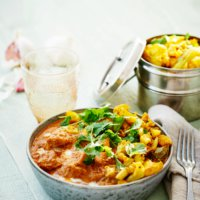 Low-carb Indian butter chicken
